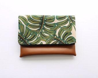 Leaf Fold Over Clutch
