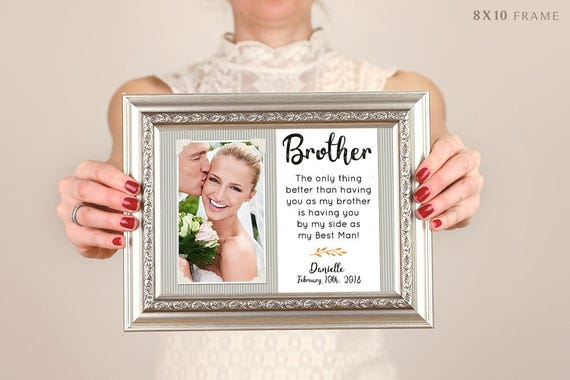 Brother Wedding Gift: Brother Wedding Gift Best Friend Thank You Gift Wedding Gift