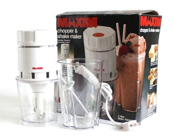 Maxim Chopper & Shake Maker Model CS 20, Mini Food Processor Electric Chopper (as-is)