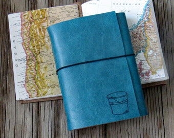 bucket list journal with maps as a travel journal retirement gift for anniversary by tremundo