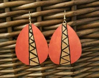 Handpainted dangle earrings
