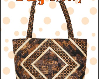The Big Bag Theory pattern, a Big Bag Pattern With Lots of Pockets and Key Fob