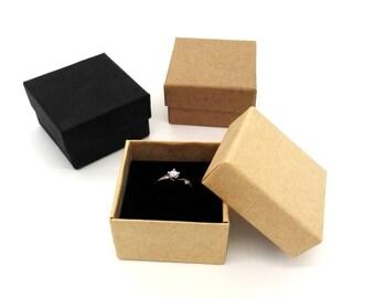 jewelry box, Rings Boxes, 10pcs, black ring box, Gift Box, jewellery packaging, Earrings box, Gift Box, wedding favor, favor boxes, 5x5x3cm
