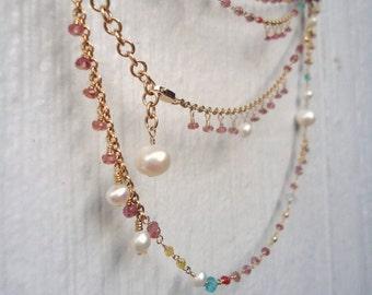 Ruby Necklace - July Birthstone Jewelry - Rosary Jewellery - Wrap Bracelet - Unique - Handcrafted - Gemstone