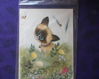 Curious Kitten decoupage print