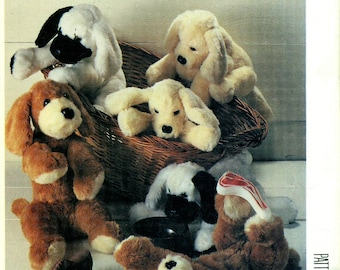 "McCall's 3283 PLUSH PUPPY DOGS Size 13"" & 16"" Also Issued as McCall's 980 McCall's 871"