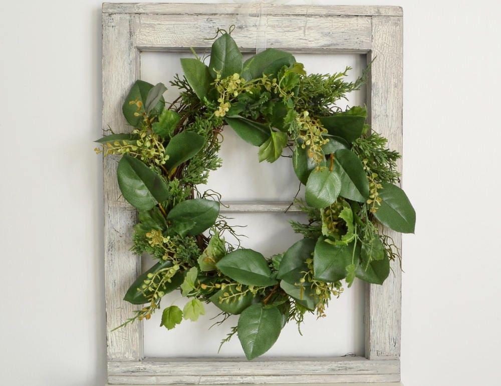 Boxwood And Lemon Leaf Wreath Faux Greenery Wreath Wreath To