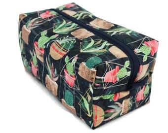 Boxy Bag -Toiletry Bag - Dopp Kit -Travel Bag -Makeup Bag - Accessory Bag - Wash Bag - Wet Bag - Succulents
