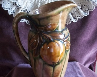 Vintage Holland Mold Pottery Pitcher, 1973