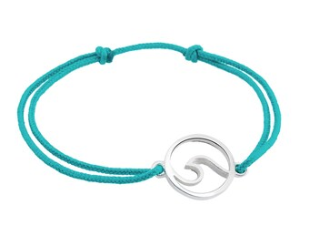 WAVE handmade sterling silver string bracelet