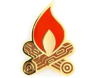 Campfire Enamel Pin