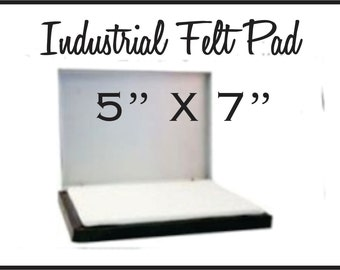 """Large Stamp Pad 5"""" X 7"""" inches for larger custom rubber stamps. For stamping boxes paper and larger areas.Choose from seven different colors"""