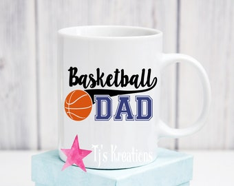 Baseketball heart beat mom dad  mugs