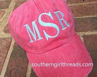 Monogram Hat, Monogrammed Baseball Hat, Monogrammed Hat, Monogram Cap, Monogrammed Cap, Personalized Baseball Hat, Personalized Hat