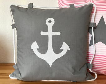 Country house Style Pillow cover * Pillow cover * anchor + cord 40 x 40 cm