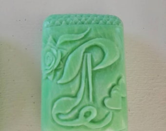 Name Initial Soap Carving