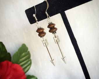 Arrow archery earrings