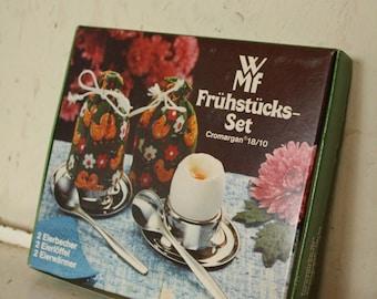 Vintage Breakfast set by WMF cromargan stainless steel