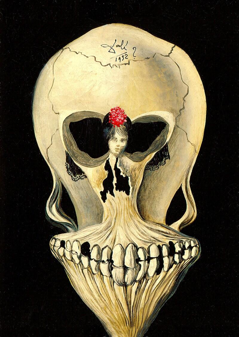 Salvador Dali Ballerina and skull giclee