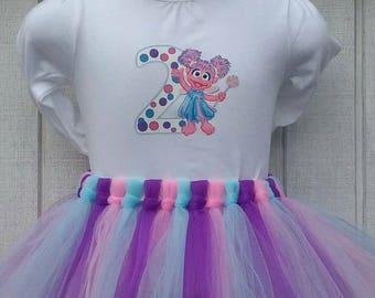 Abby Cadabby, Birthday, birthday tutu outfit, birthday outfit, first birthday, 1st birthday, smash cake outfit, Sesame Street outfit, sesame