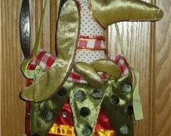 "Patience Brewster Retired Dog Dachshund Xmas Stocking 24"" Dept 56"