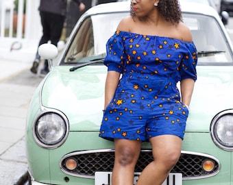 Ankara Jumpsuit, Jumpsuit, African print, african romper, romper, playsuit