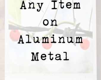 Aluminum Wall Art, Metal Print, Modern Home Decor, Ready to Hang, Polaroid-Type, Metal Photograph, Picture on Metal, Vintage Look