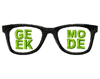 Geek Mode Machine Embroidery Design Single