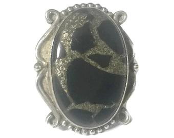 Women Black Ring Size 7 Plus Black Stone Ring Women Southwest Ring Southwest Women Ring Size 7 Sterling Silver Ring Size 7 BoHo Ring Size 7