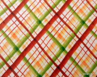 "One Fat Quarter Cut Quilt Fabric, Fall Plaid, ""Leaf into Autumn"" by Maria Kalinowski for Kanvas, Sewing-Quilting-Craft Supplies"