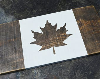 Canadian Flag, Wooden Canada Flag, Custom Wooden Canadian Flag, Canada 150 Years, Cottage Sign, Canadian Gift, Rustic Wood Sign
