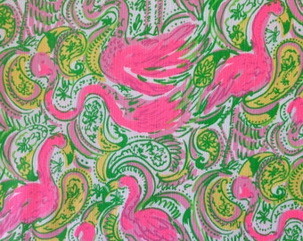 "resort white hot wings dobby cotton fabric square 14""x14"" ~ lilly spring 2015 ~ lilly pulitzer"