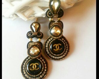 New Earrings with authentic (stamp on back) Chanel buttons.