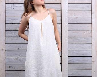 Elegant linen dress / Casual long dress / Loose fit dress