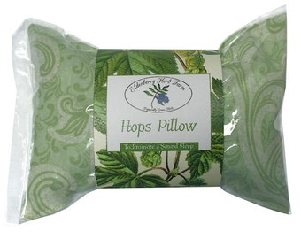 Hops Pillow With Your Choice of Fabric