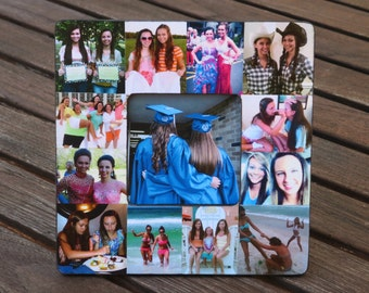 Unique Graduation Gift, Best Friend Collage Frame, Personalized Sister Gift, Maid of Honor Picture Frame, Custom Bridesmaid, Birthday Gift