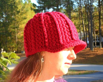 Cranberry Beanie Cap Hat - Ready to Ship