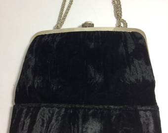 HL Harry Levine Vintage Velvet Evening Bag