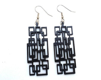 3D Printed Rectangle Earrings