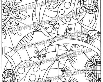 Lady Bugs Coloring Page JPG
