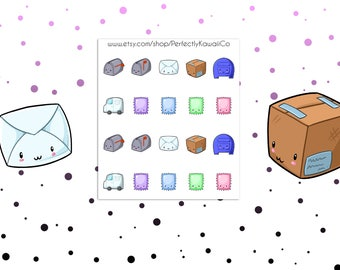 KCD33 Mail Stickers | Stickers kawaii Mail | Paquet de Stickers