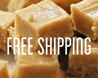 Free Shipping, Salted Caramel Fudge, Creamy Fudge