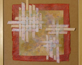 Woven Textures  -  mixed-media collage