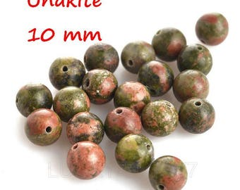 20 10 mm Unakite beads
