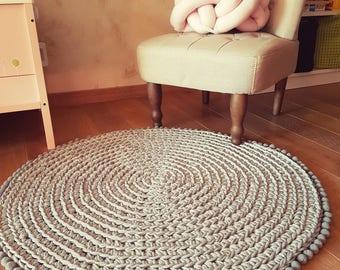 Light gray, black or Creamy Rug, Nursery Round Rug, Baby Play Mat Rug, Kids Room Decor, Nursery Decor, Home Decor