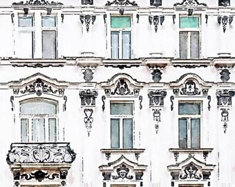 Instant Download Europe Art Print, Elegant Architecture, Bratislava Slovakia Printable Watercolor Painting Photo Art