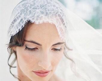 juliet cap veil, wedding veil, juliet veil, lace veil, drape veil