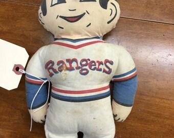 Vintage Texas Rangers Baseball Doll