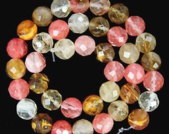 35 VOLCANO QUARTZ Gemstone Beads - 10mm - COD7281