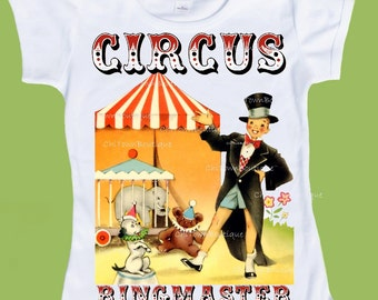 Vintage Circus, Ringmaster T-Shirt, Family shirts, Circus Birthday, Retro Circus Tee, one piece baby, by ChiTownBoutique.etsy
